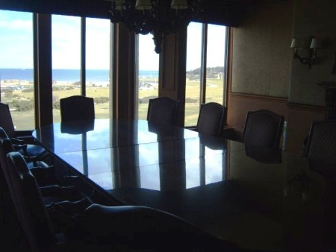 This is a view from the Boardroom, where our reception will take place.