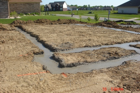 And we have concrete footers!