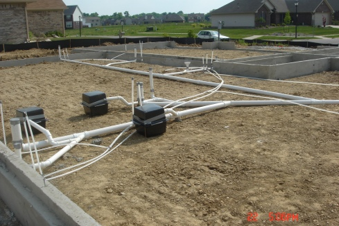 Plumbing and our concrete walls!!