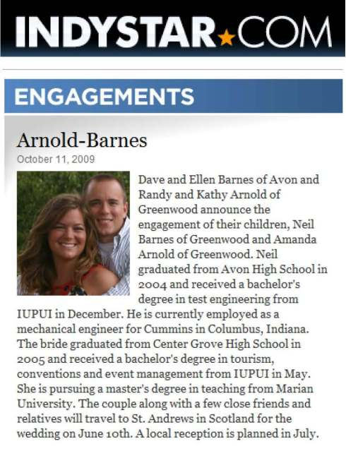 Indy Star Engagement Announcement