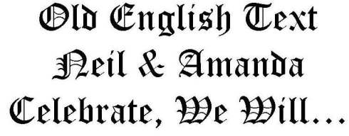 Old English Text